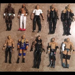 Wrestling action figures with accessories